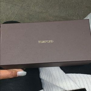 Suede Tom Ford Eyeglass Case With Box